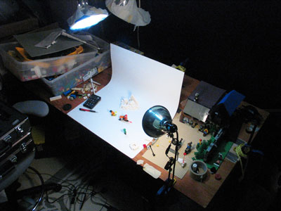 LEGO snowball behind the scenes animation set